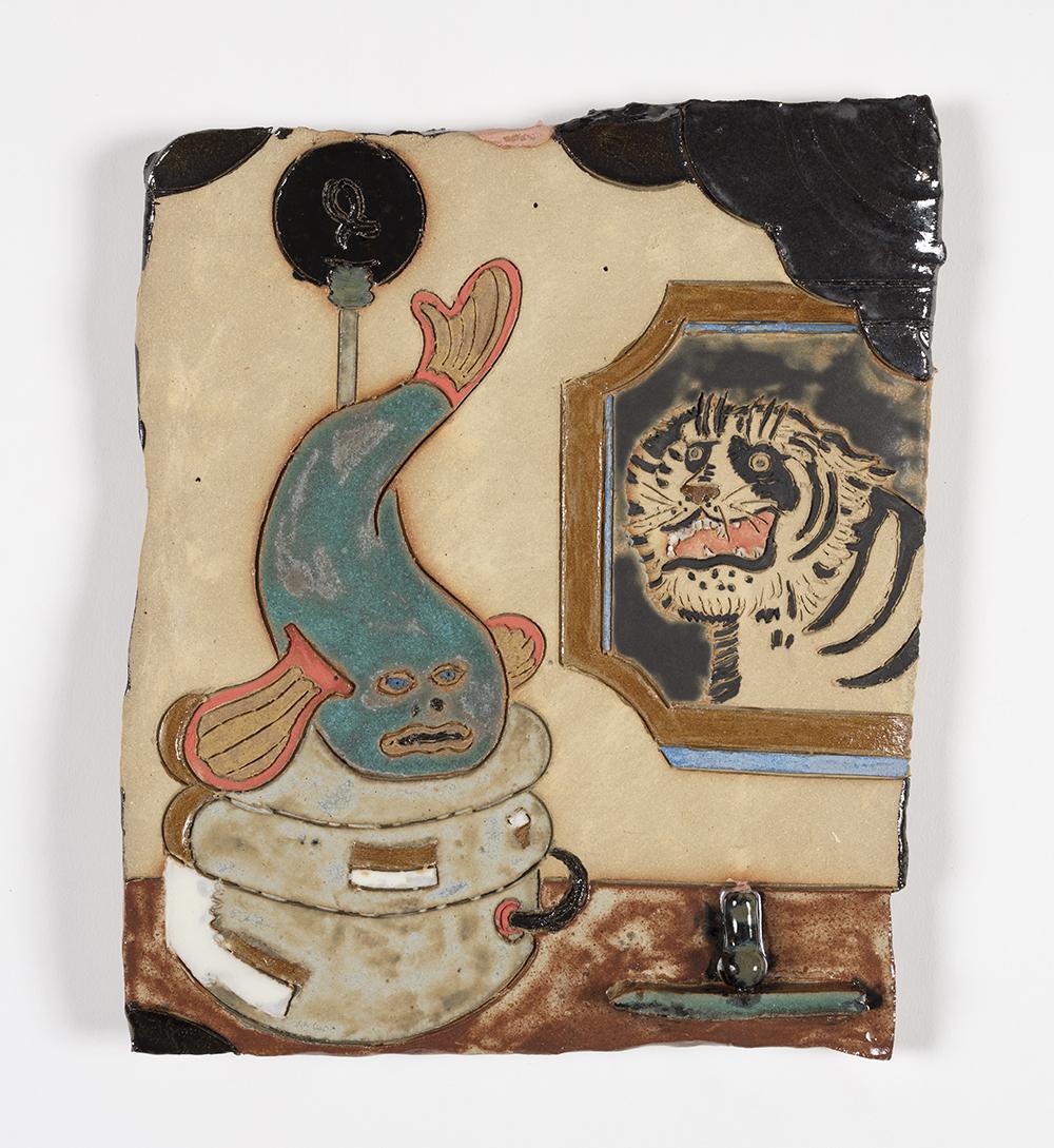 Kevin McNamee-Tweed.<em> Ghoti Lamp</em>, 2019. Glazed ceramic, 11 x 9 inches (27.9 x 22.9 cm)