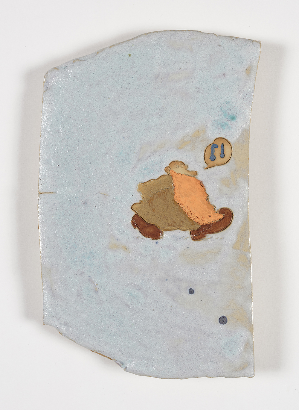 Kevin McNamee-Tweed.<em> Whistler</em>, 2019. Glazed ceramic, 12 1/2 x 7 1/2 inches (31.8 x 19.1 cm)