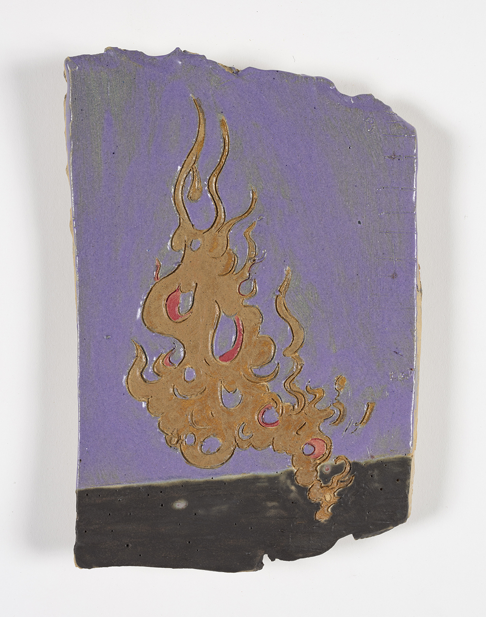 Kevin McNamee-Tweed.<em> Spontaneoto</em>, 2019. Glazed ceramic, 9 x 6 inches (22.9 x 15.2 cm)