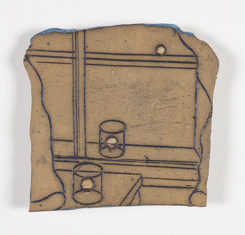 Kevin McNamee-Tweed.<em> Tide</em>, 2019. Glazed ceramic, 7 x 7 1/2 inches (17.8 x 19.1 cm)