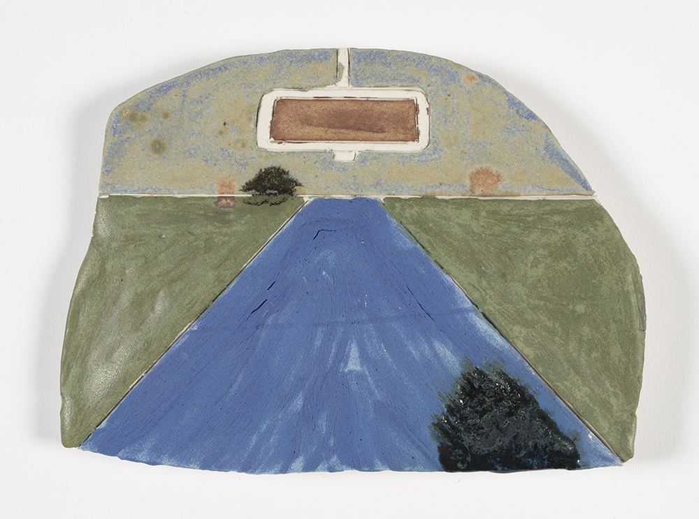 Kevin McNamee-Tweed.<em> HW</em>, 2019. Glazed ceramic, 5 3/4 x 8 inches (14.6 x 20.3 cm)