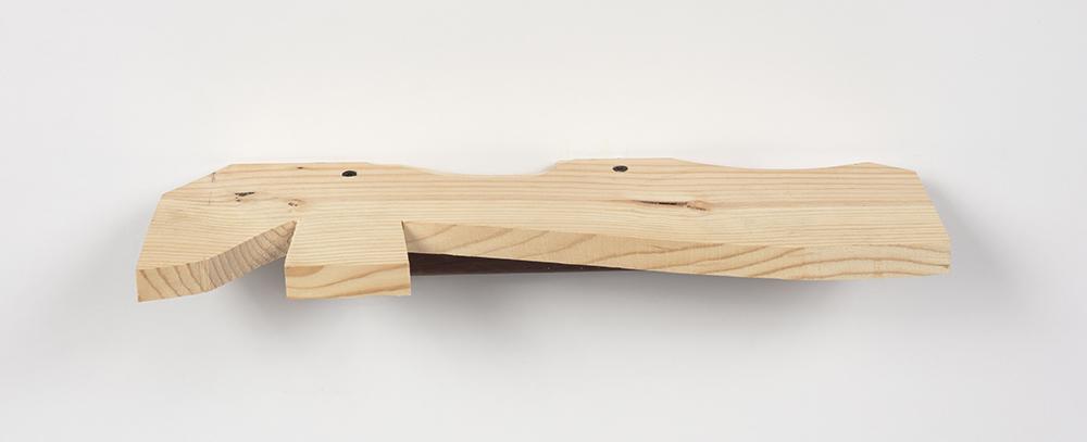 Kevin McNamee-Tweed. <em> Scape</em>, 2019. Wood, 2 x 16 1/2 x 4 1/2 inches (5.1 x 41.9 x 11.4 cm)