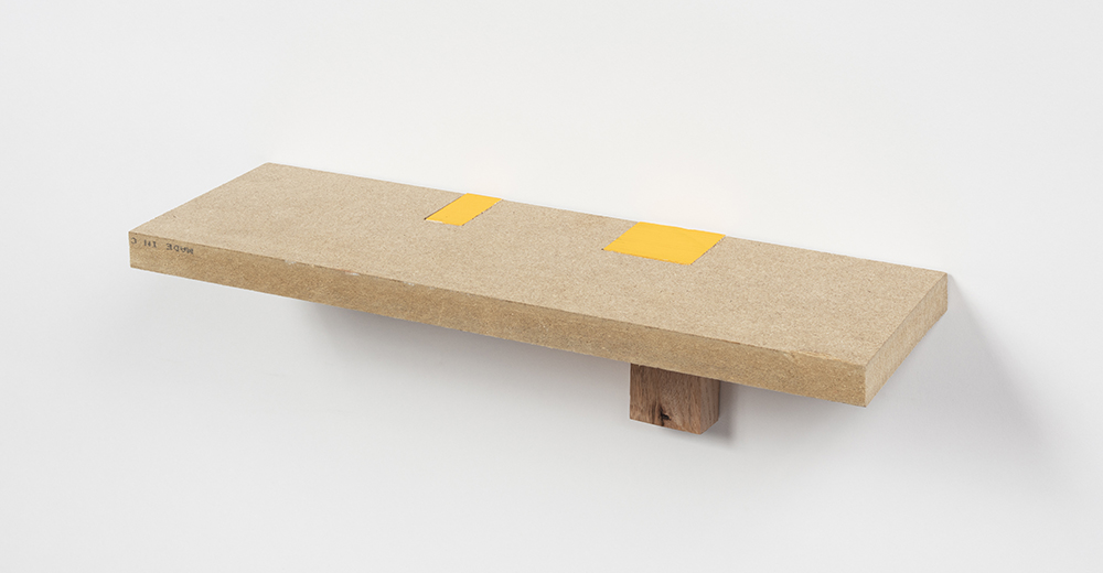 Kevin McNamee-Tweed.<em> YB</em>, 2019. Acrylic on wood, 3 3/4 x 15 1/4 x 4 1/4 inches (9.5 x 38.7 x 10.8 cm)
