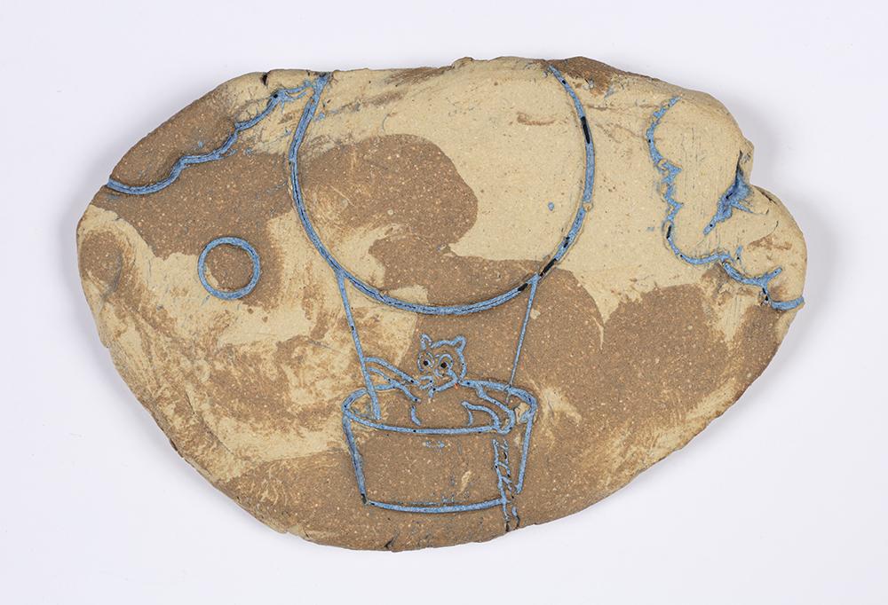 Kevin McNamee-Tweed.<em> Feli</em>, 2019. Glazed ceramic, 3 3/4 x 2 1/2 inches (9.5 x 6.4 cm)