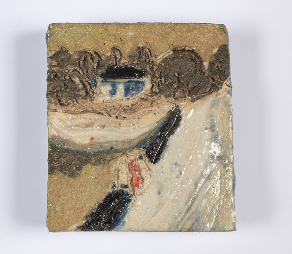 Kevin McNamee-Tweed.<em> The Bridge</em>, 2019. Glazed ceramic, 1 1/2 x 1 1/4 inches (3.8 x 3.2 cm)