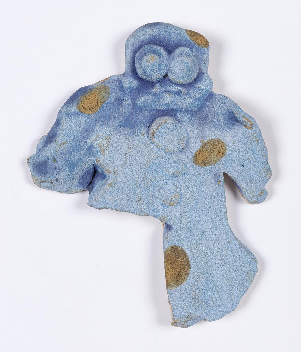 Kevin McNamee-Tweed.<em> Fork</em>, 2019. Glazed ceramic, 2 3/4 x 2 1/4 inches (7 x 5.7 cm)