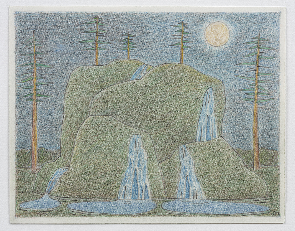 John Dilg.<em> Arterial Resources</em>, 2019. Colored pencil on arches,  6 x 8 inches (15.2 x 20.3 cm)