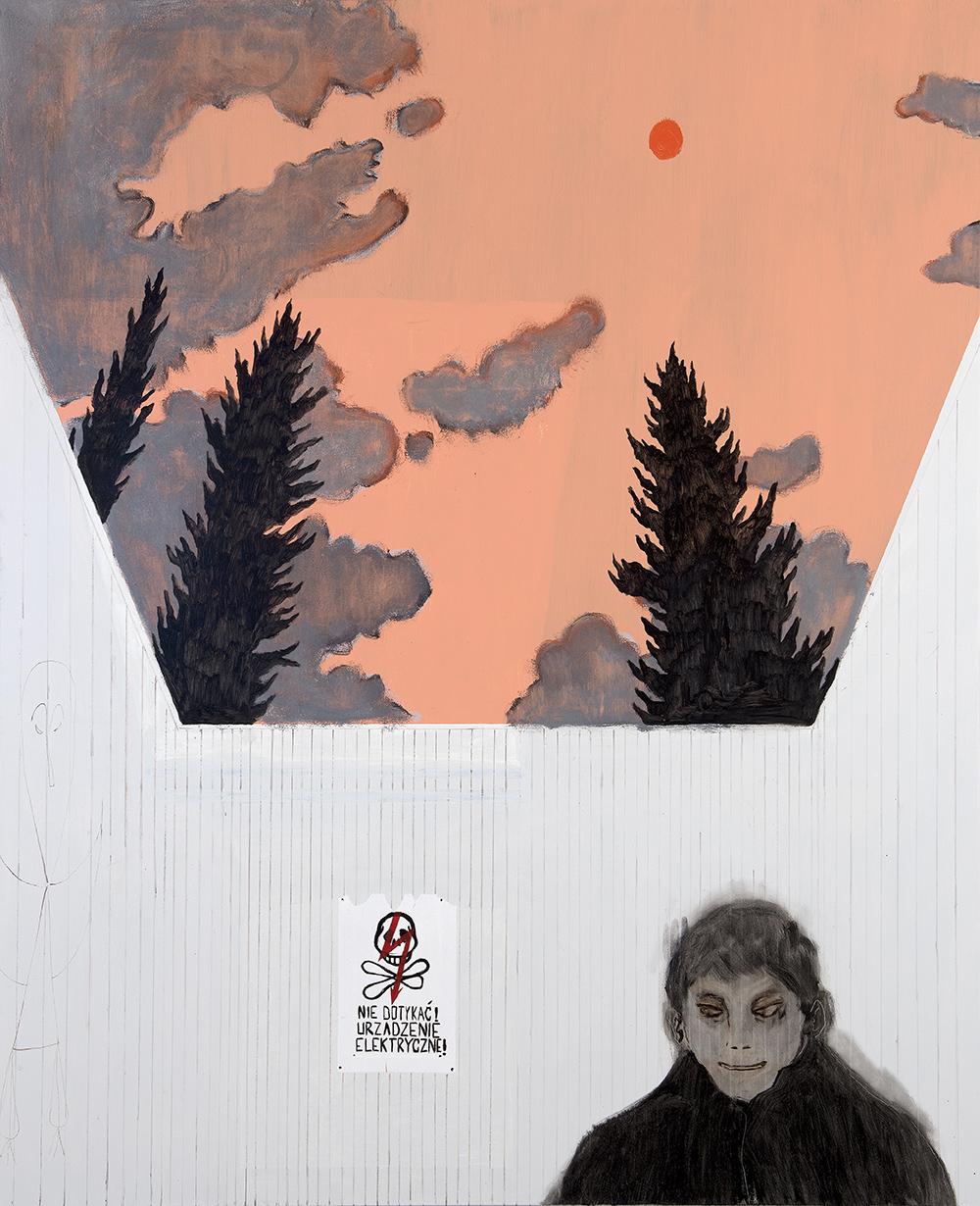 Francisco Rodriguez.<em> It will rain</em>, 2019. Oil on canvas, 82 5/8 x 66 7/8 inches (210 x 170 cm)