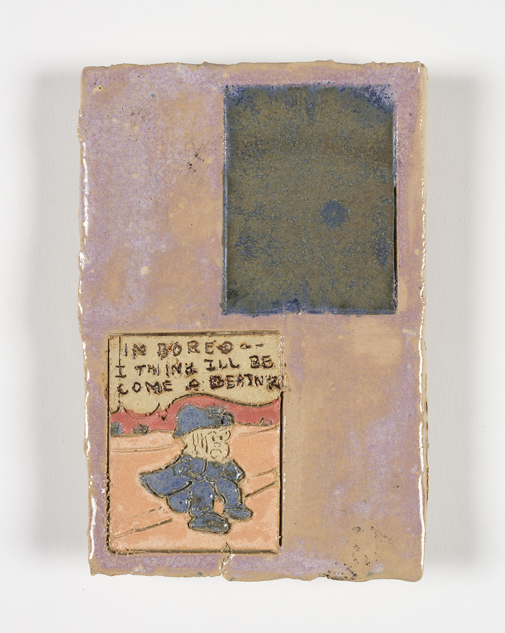 Kevin McNamee-Tweed.<em> Beat</em>, 2019. Glazed ceramic, 7 x 4 3/4 inches (17.8 x 12.1 cm)
