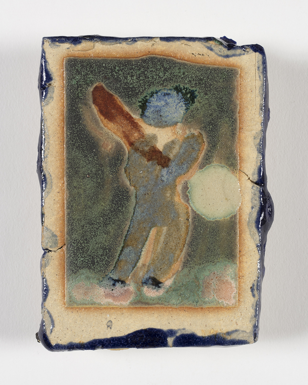 Kevin McNamee-Tweed.<em> Baseball88</em>, 2019. Glazed ceramic, 3 1/2 x 2 1/2 inches (8.9 x 6.4 cm)