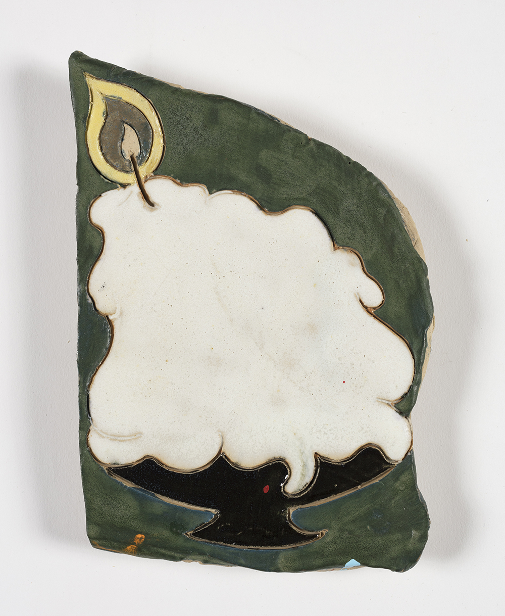 Kevin McNamee-Tweed.<em> Big Candle</em>, 2019. Glazed ceramic, 6 1/2 x 4 1/2 inches (16.5 x 11.4 cm)