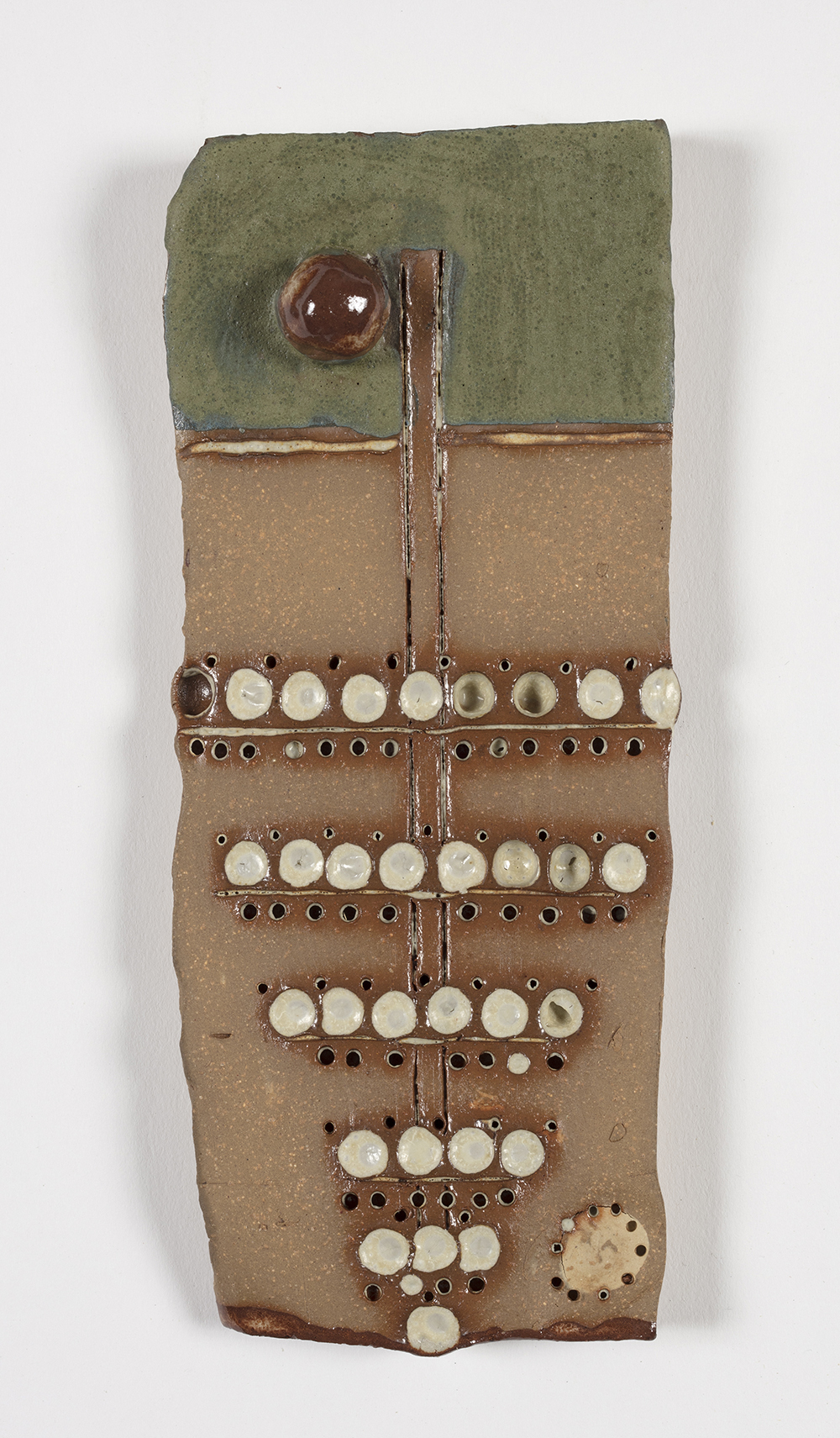 Kevin McNamee-Tweed.<em> Tree</em>, 2019. Glazed ceramic, 7 x 3 inches (17.8 x 7.6 cm)