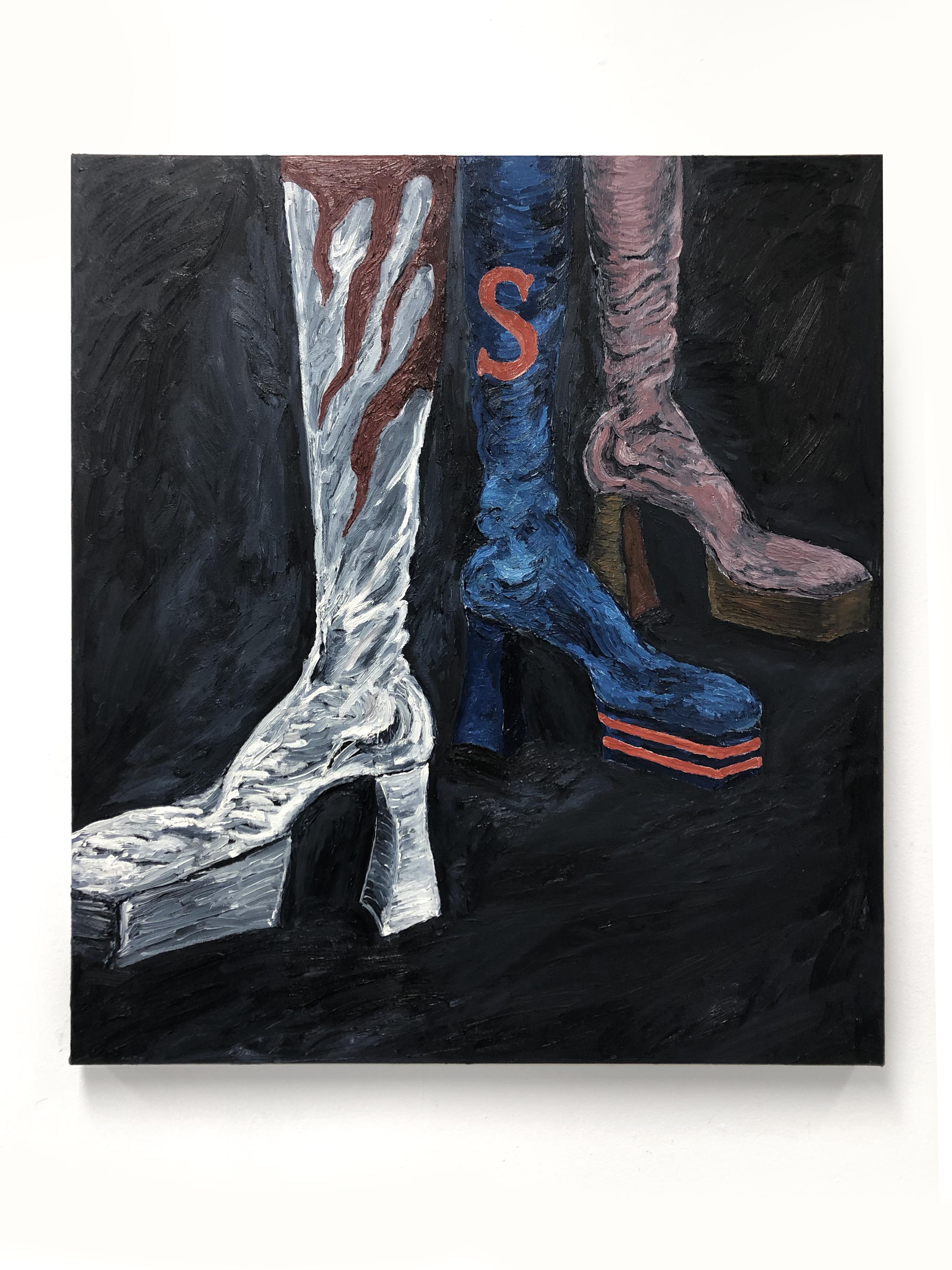 Stevie Dix.<em> Résistance</em>, 2019. Oil on canvas, 39 3/8 x 35 3/8 inches (100 x 90 cm)
