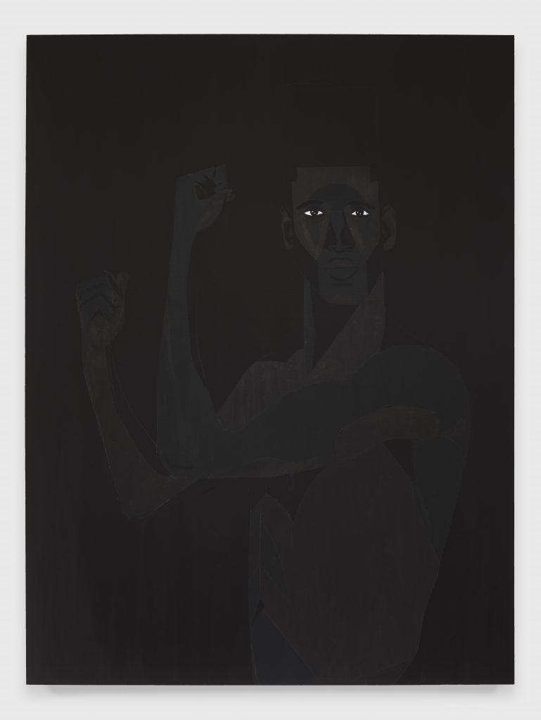 Jon Key, The Man No. 13, 2020 Acrylic on panel 40 x 30 inches (101.6 x 76.2 cm)