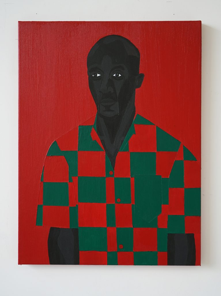 Jon Key.<em> Family Portrait No. 1 (Ken)</em>, 2019. Acrylic on canvas, 24 x 18 inches (61 x 45.7 cm)