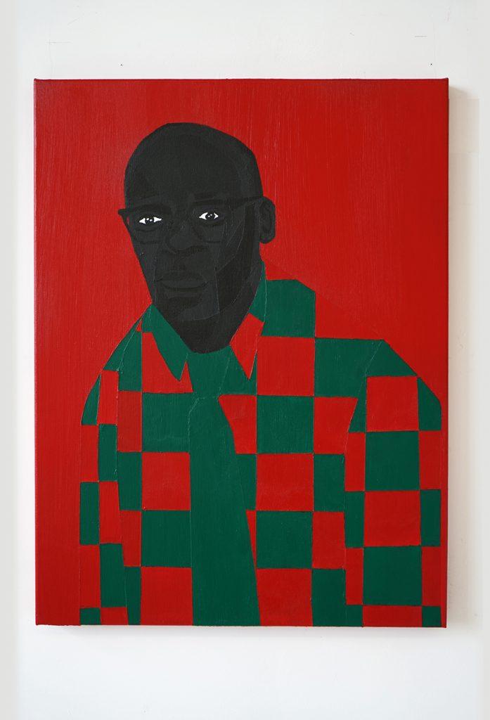 Jon Key.<em> Family Portrait No. 2 (Fred)</em>, 2019. Acrylic on canvas, 24 x 18 inches (61 x 45.7 cm)