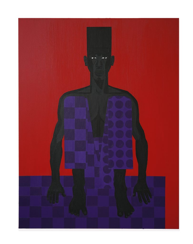 Jon Key.<em> The Man in the Red Room No. 2</em>, 2019. Acrylic on canvas, 48 x 36 inches (121.9 x 91.4 cm)