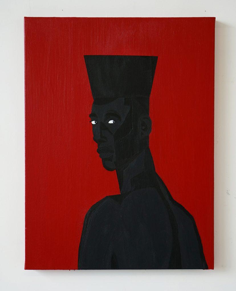 Jon Key.<em> The Man No. 3</em>, 2019. Acrylic on canvas, 24 x 18 inches (61 x 45.7 cm)
