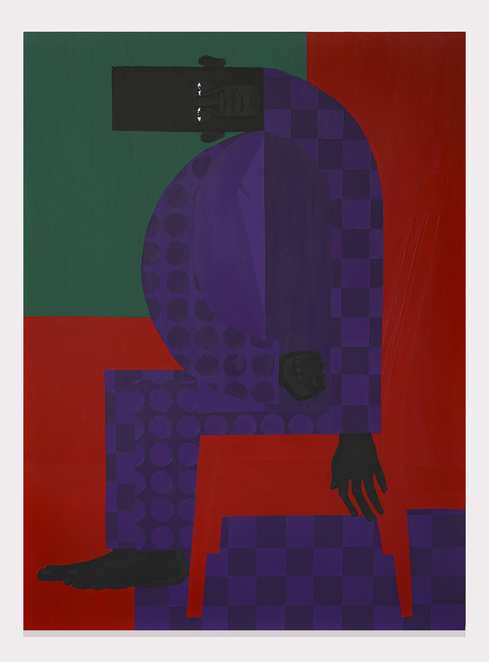 Jon Key.<em> The Man in the Violet Suit No. 13</em>, 2019. Acrylic on canvas, 48 x 36 inches (121.9 x 91.4 cm)
