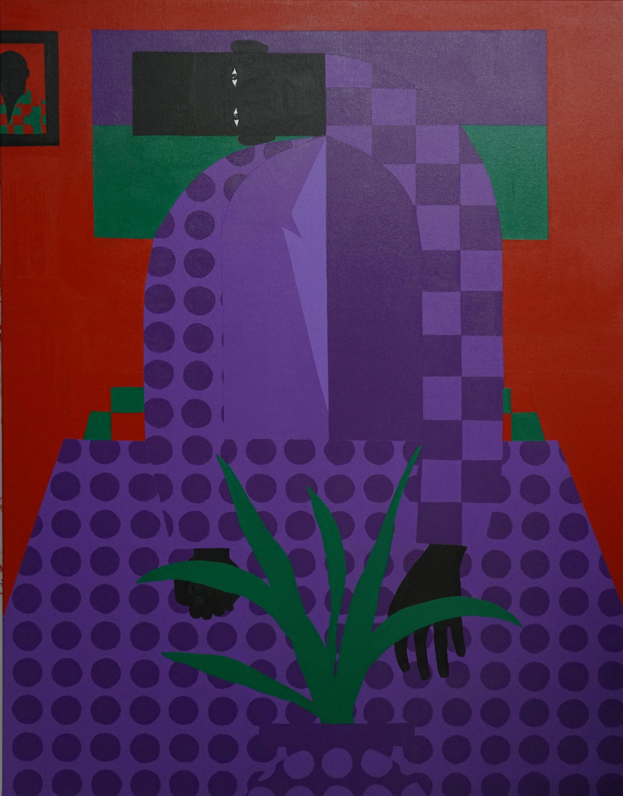 Jon Key.<em> The Man in the Red Room No. 3</em>, 2019. Acrylic on canvas, 48 x 36 inches (121.9 x 91.4 cm)