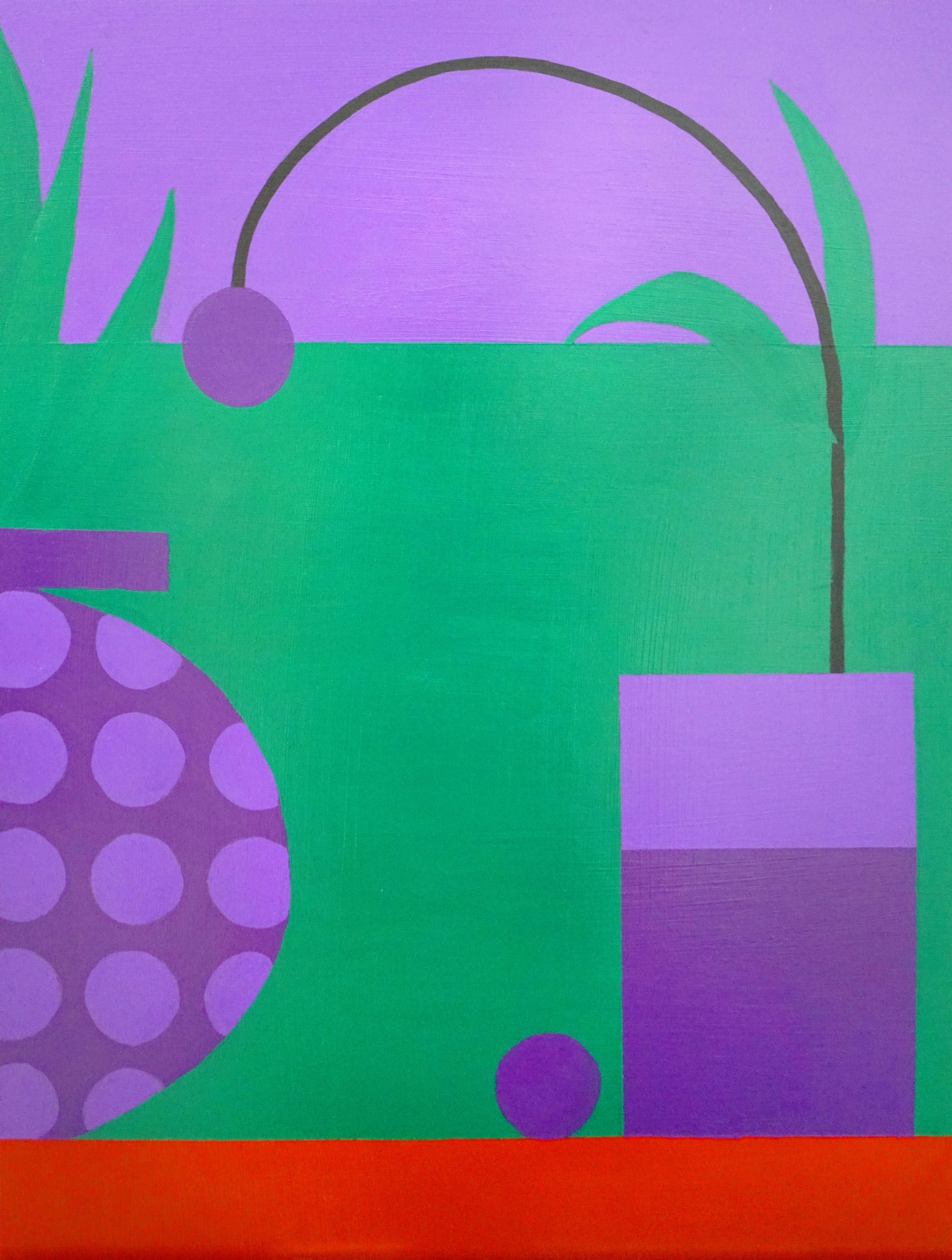 Jon Key.<em> Violet Still Life No. 2</em>, 2019. Acrylic on panel, 24 x 18 inches (61 x 45.7 cm)