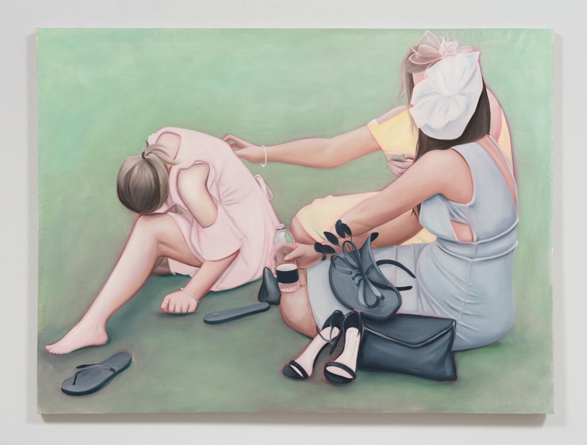 Lydia Blakeley. <em>Charities</em>, 2019. Oil on linen, 59 x 78 3/4 inches  (150 x 200 cm)