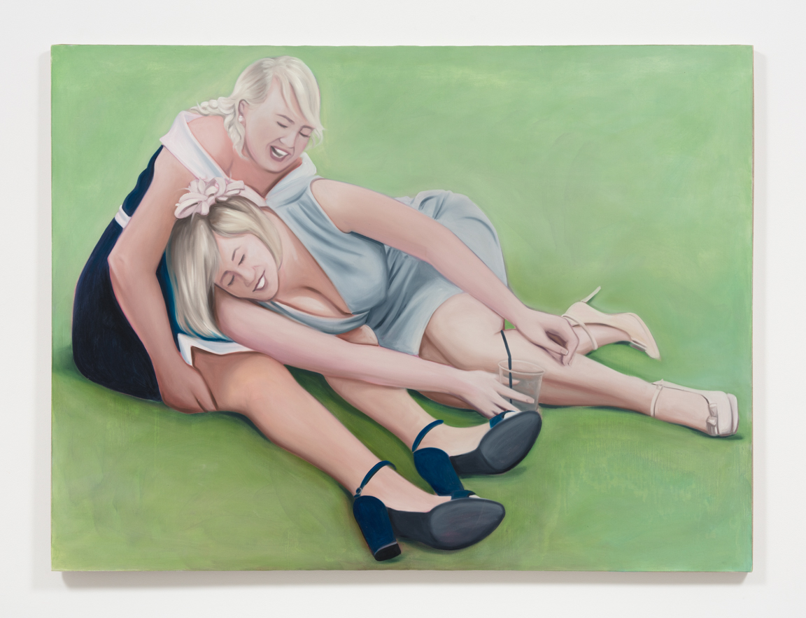 Lydia Blakeley.<em>Creasing</em>, 2019. Oil on linen, 59 x 78 3/4 inches  (150 x 200 cm)
