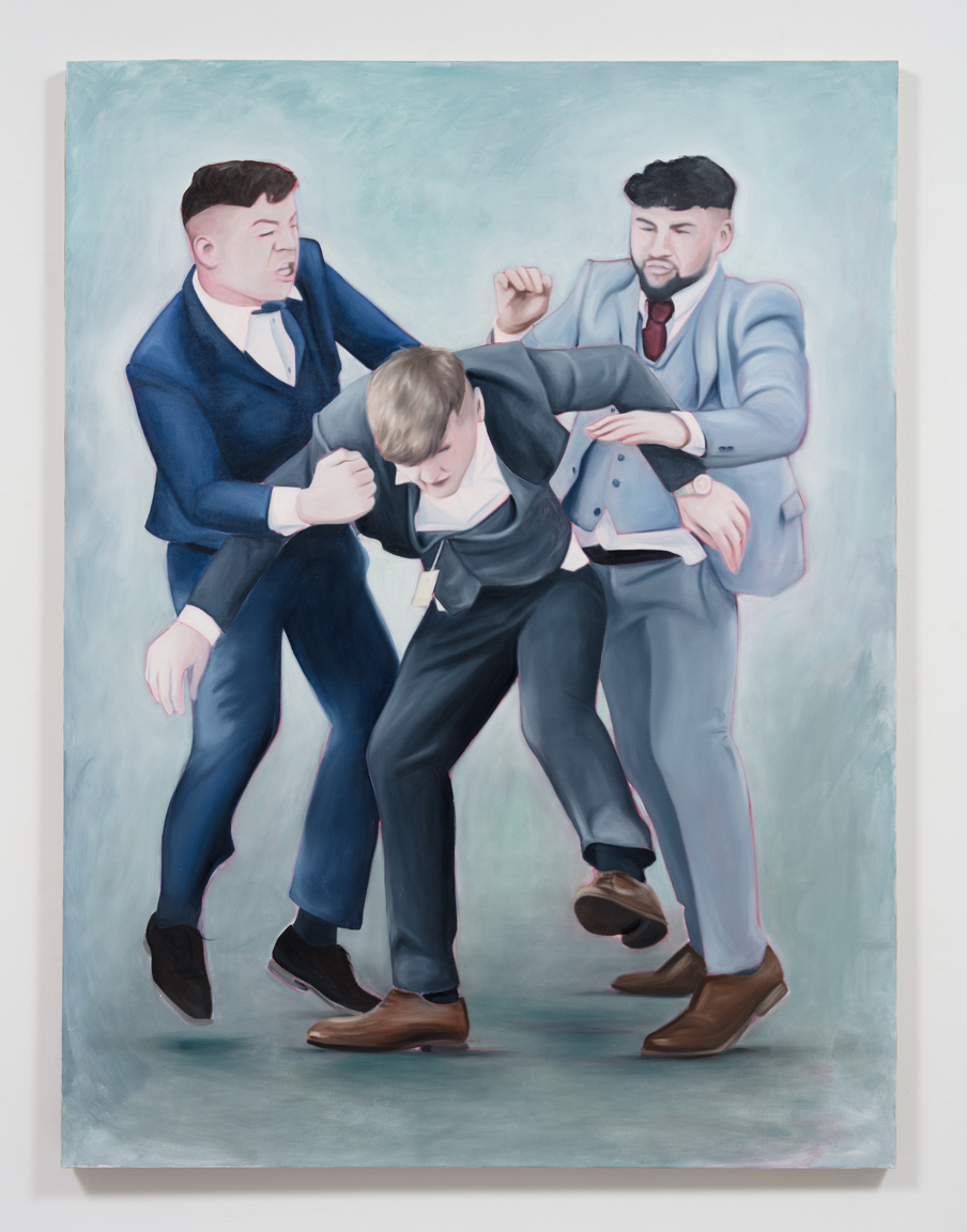 Lydia Blakeley. <em>St. Leger Stakes</em>, 2019. Oil on linen, 59 x 78 3/4 inches  (150 x 200 cm)