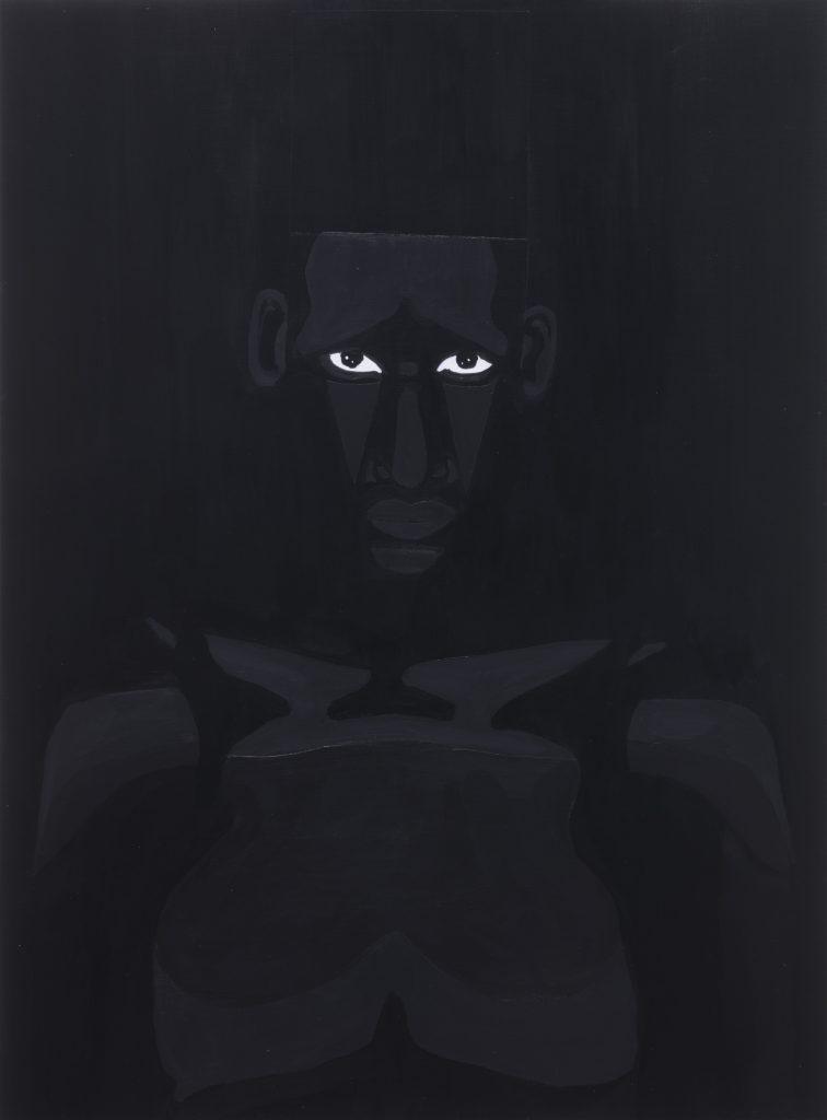 Jon Key. <em>The Man No. 7</em>, 2020. Acrylic on panel, 24 x 18 inches (61 x 45.7 cm)