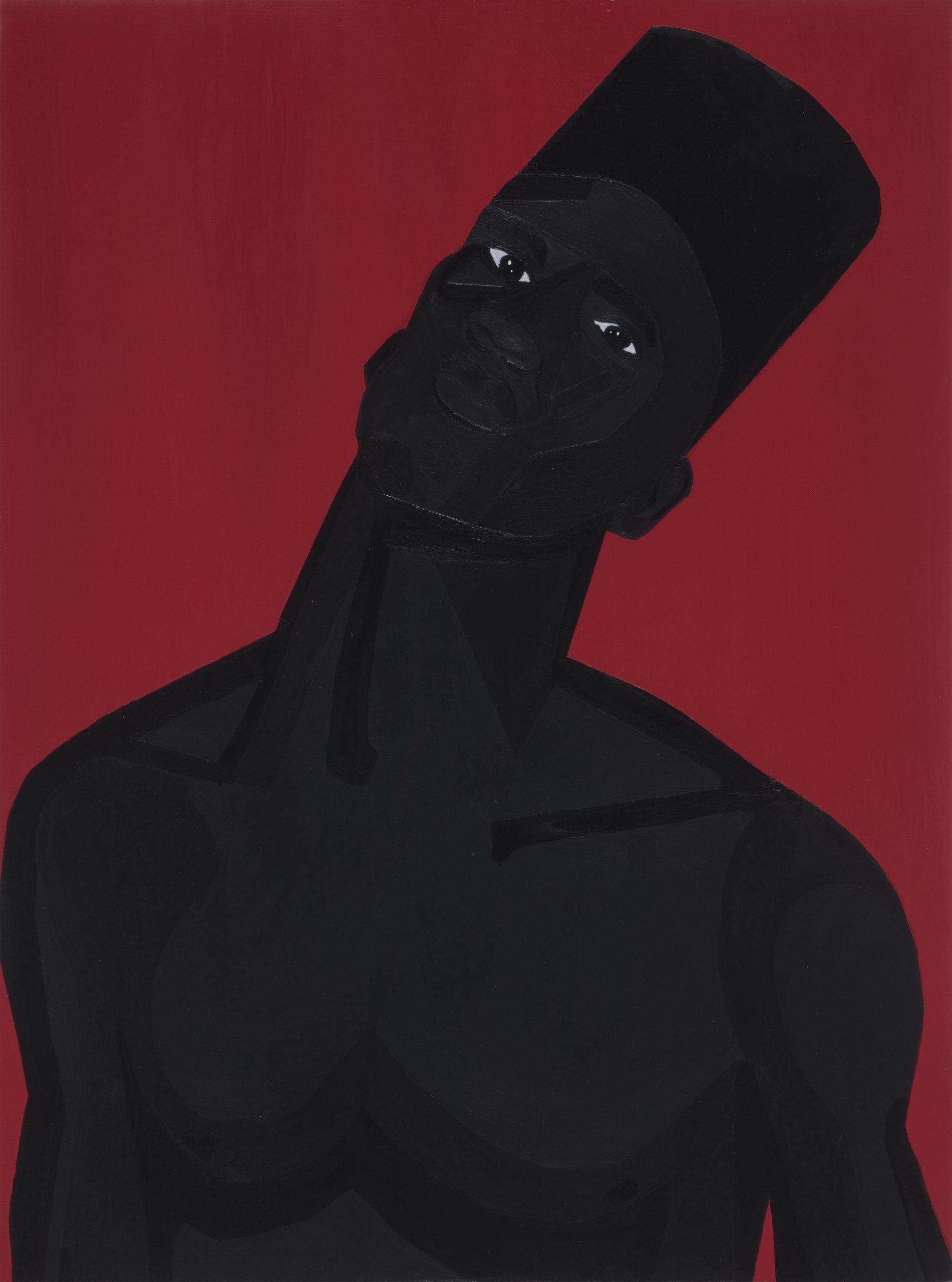 Jon Key. <em>The Man No. 8</em>, 2020. Acrylic on panel, 24 x 18 inches (61 x 45.7 cm)