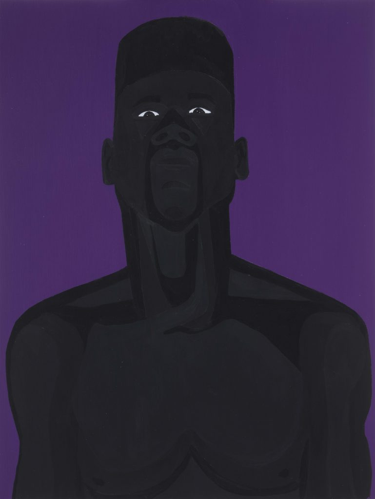 Jon Key. <em>The Man No. 9</em>, 2020. Acrylic on panel, 24 x 18 inches (61 x 45.7 cm)