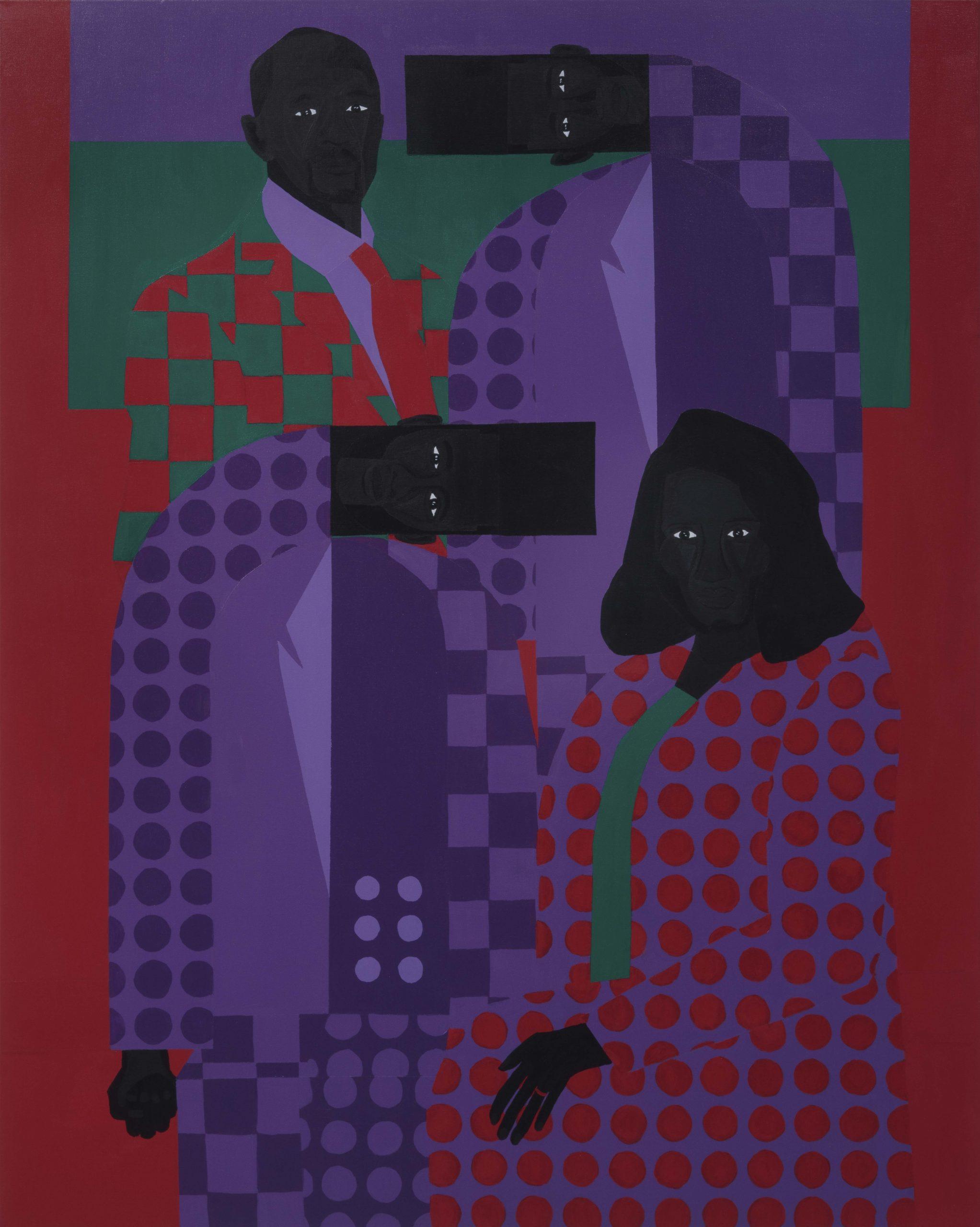 Jon Key. <em>Family Portrait No. 6 (The Key Family)</em>, 2020. Acrylic on canvas, 60 x 48 inches (152.4 x 121.9 cm)