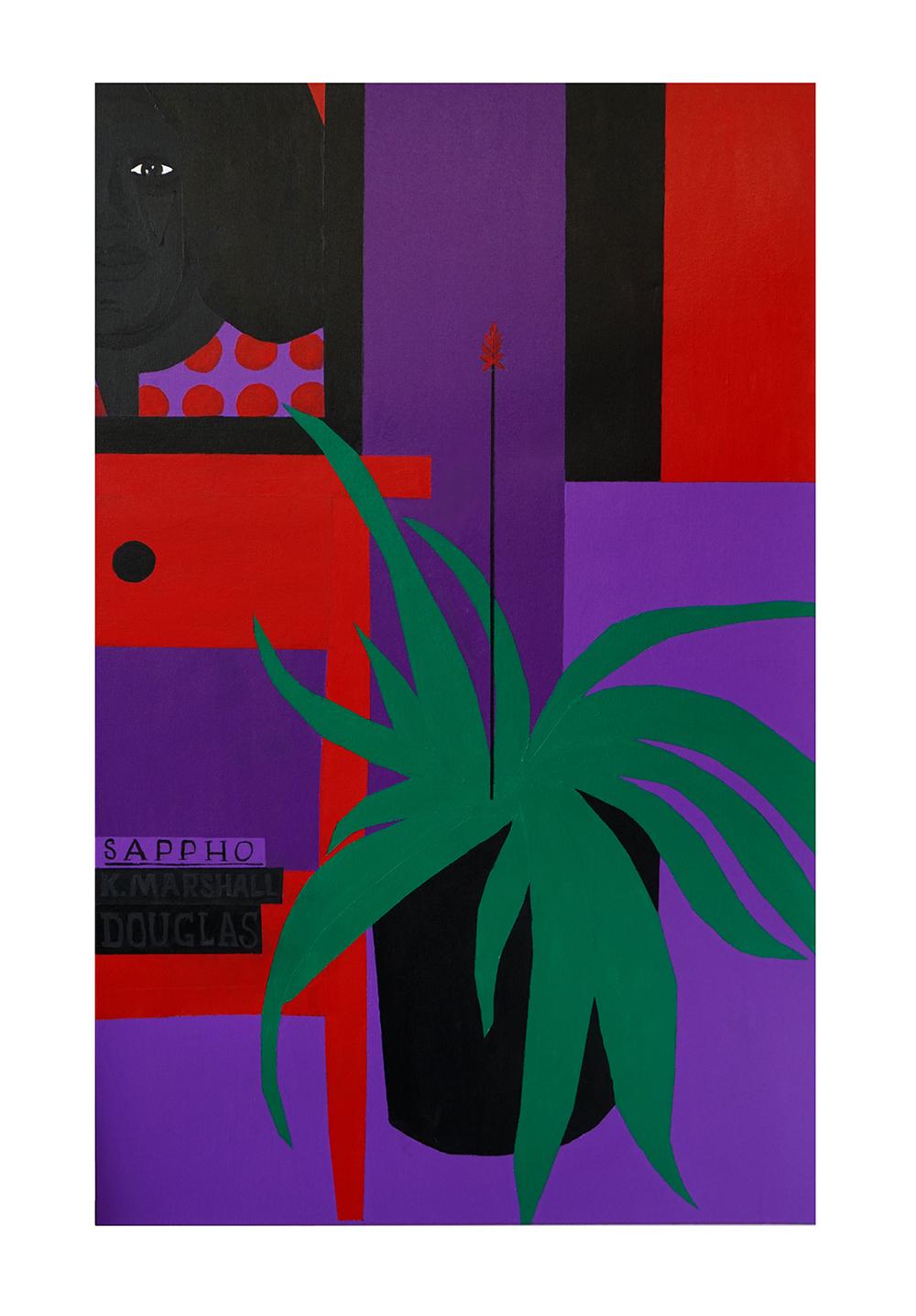 Jon Key. <em>Still Life No. 5 (Mom and Books)</em>, 2020. Acrylic on panel, 36 x 24 inches (91.4 x 61 cm)