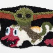 Hannah Epstein. <em>Baby Yoda Riding My Desire to Have a Child</em>, 2019. Wool, polyester, cotton and burlap, 19 x 28 inches  (48.3 x 71.1 cm) thumbnail
