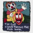 Hannah Epstein.<em> The Sad Clown Throws the Fish Back</em>, 2019. Wool, acrylic, polyester and burlap, 31 x 27 inches  (78.7 x 68.6 cm) thumbnail