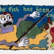 Hannah Epstein.<em> The Fish Has Been Caught</em>, 2019. Wool, acrylic, polyester and burlap, 32 x 54 inches  (81.3 x 137.2 cm) thumbnail