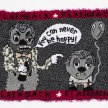 Hannah Epstein.<em> You Can Never Be Happy</em>, 2019. Wool, acrylic, polyester and burlap, 31 x 46 inches  (78.7 x 116.8 cm) thumbnail