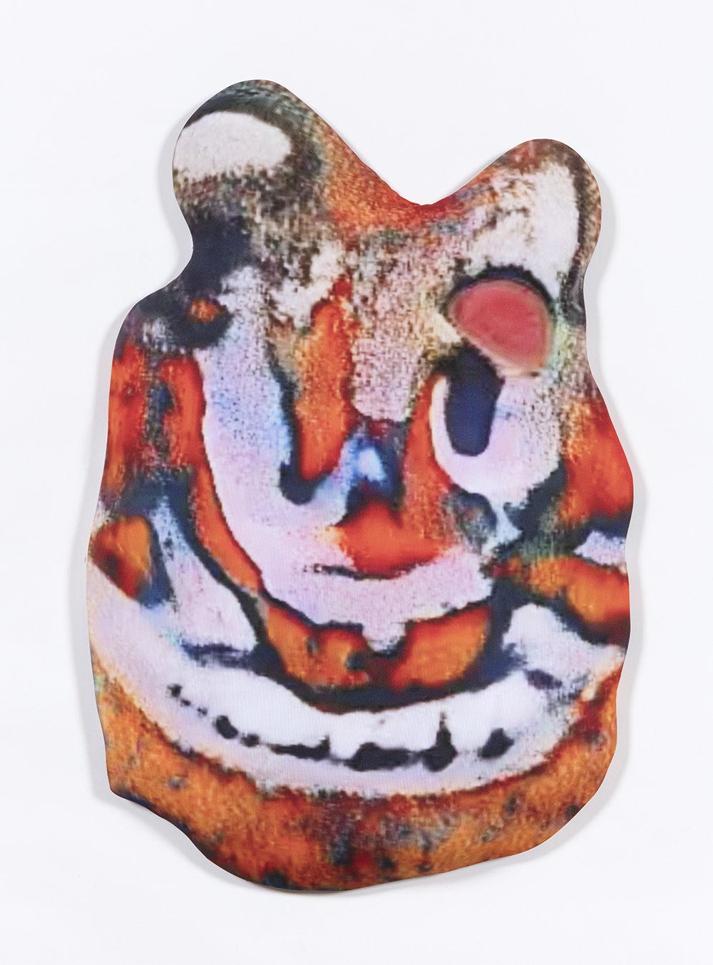 Hannah Epstein. <em>Garfield Sundae</em>, 2020. Digital print on lycra; polyfill and wood, 25 1/2 x 15 1/2 x 2 1/2 inches  (64.8 x 39.4 x 6.4 cm)