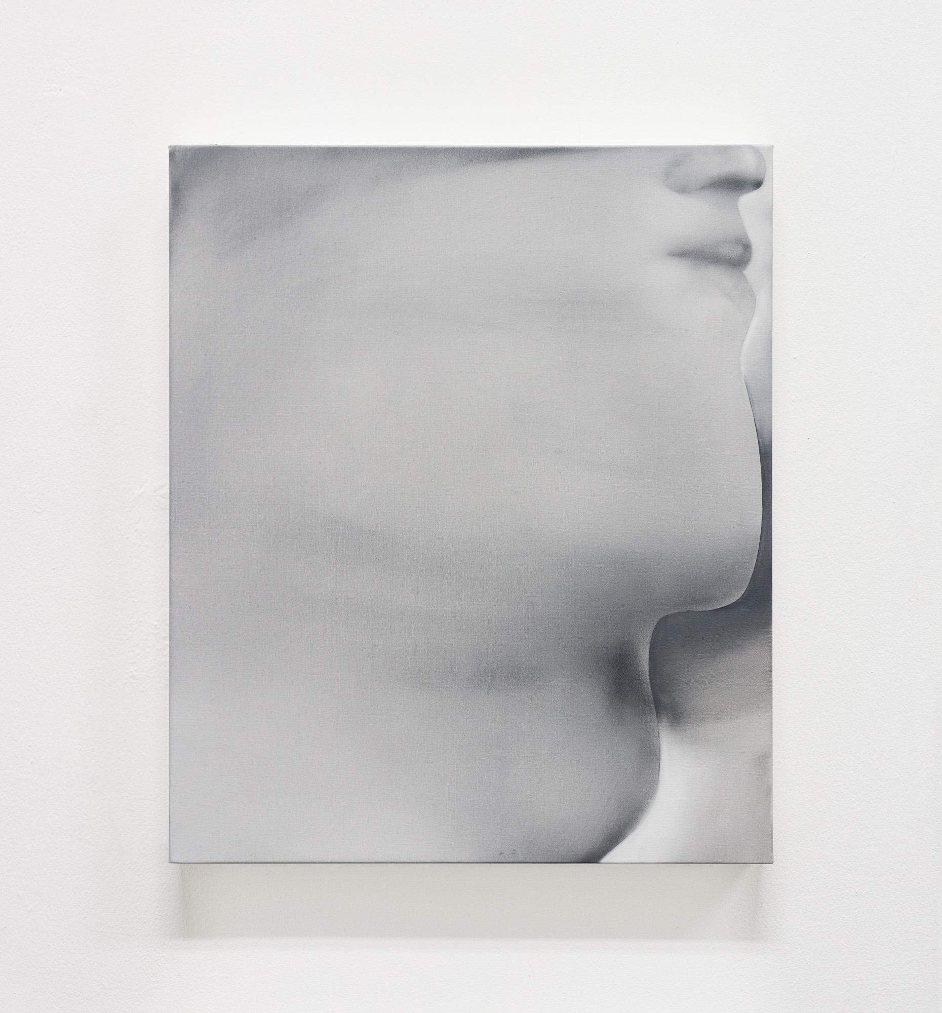 Jingze Du. <em>Under the Peach Tree</em>, 2020. Oil on linen, 23 5/8 x 19 5/8 inches (60 x 50 cm)