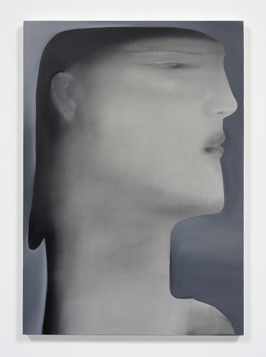 Jingze Du. <em>Standing by the Windowsill</em>, 2020. Oil on linen, 39 3/8 x 27 1/2 inches (100 x 70 cm)