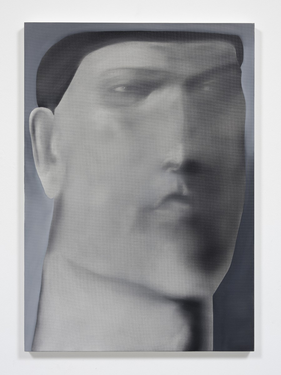 Jingze Du. <em>Reading After Dinner</em>, 2020. Oil on linen, 39 3/8 x 27 1/2 inches (100 x 70 cm)