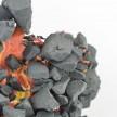 Kiyoshi Kaneshiro. <em>Fractured Vessel (40)</em>, 2020. Porcelain and glaze, 6 1/2 x 8 1/2 x 8 1/2 inches (16.5 x 21.6 x 21.6 cm) Detail thumbnail
