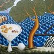 Siro Cugusi. <em>Forest I</em>, 2019. Oil on canvas, 74 3/4 x 112 1/4 inches (190 x 285 cm) thumbnail