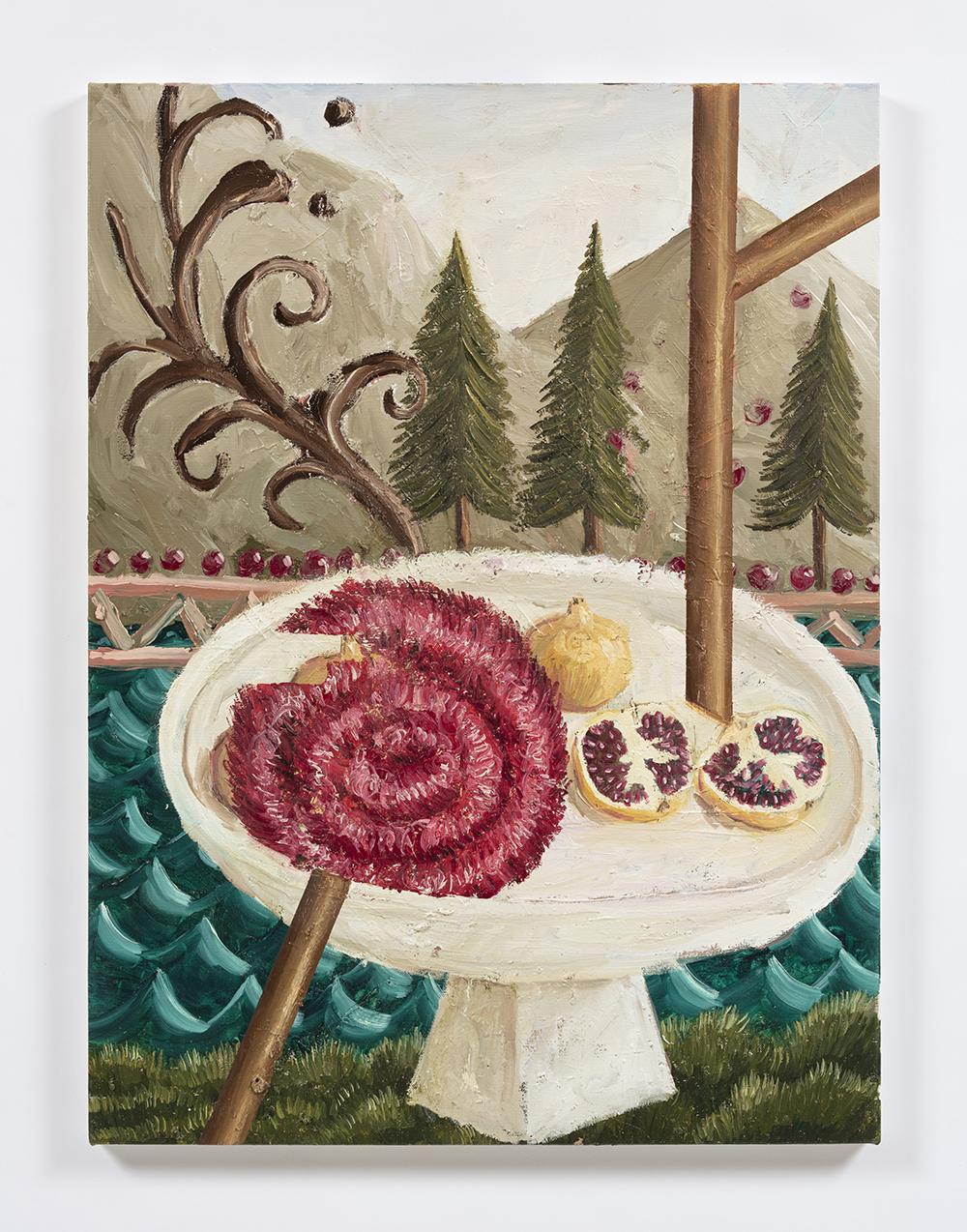 Siro Cugusi. <em>Forest VI</em>, 2019. Oil on canvas, 31 1/2 x 23 5/8 inches (80 x 60 cm)