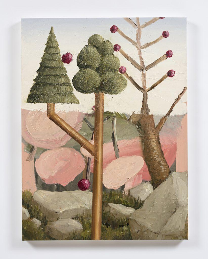 Siro Cugusi. <em>Forest VIII</em>, 2019. Oil on canvas, 27 1/2 x 19 5/8 inches (70 x 50 cm)