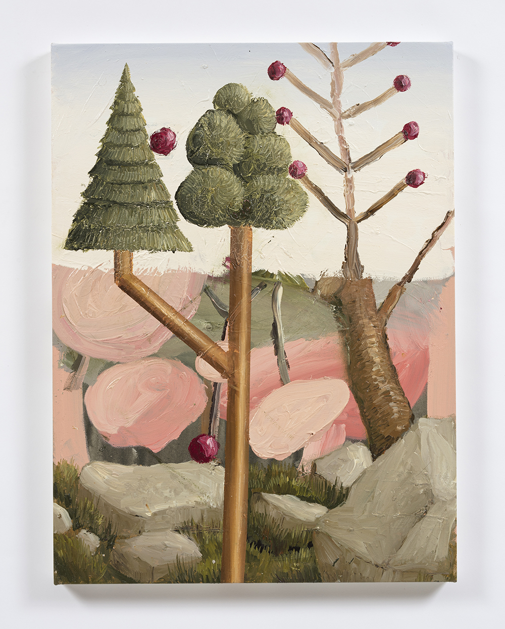 Siro Cugusi. <em>Forest VIII</em>, 2019. Oil on canvas, 27 1/2 x 19 5/8 inches (70 x 50 cm)