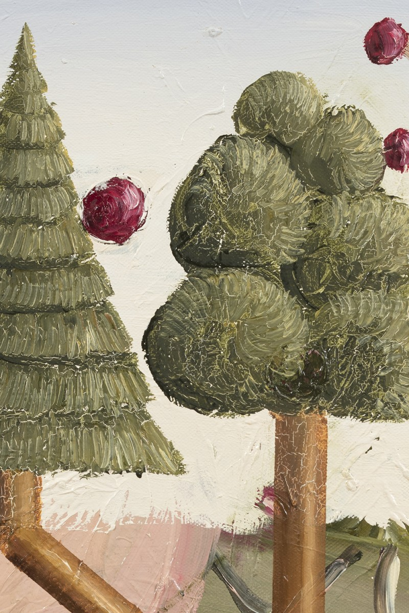 Siro Cugusi. <em>Forest VIII</em>, 2019. Oil on canvas, 27 1/2 x 19 5/8 inches (70 x 50 cm) Detail