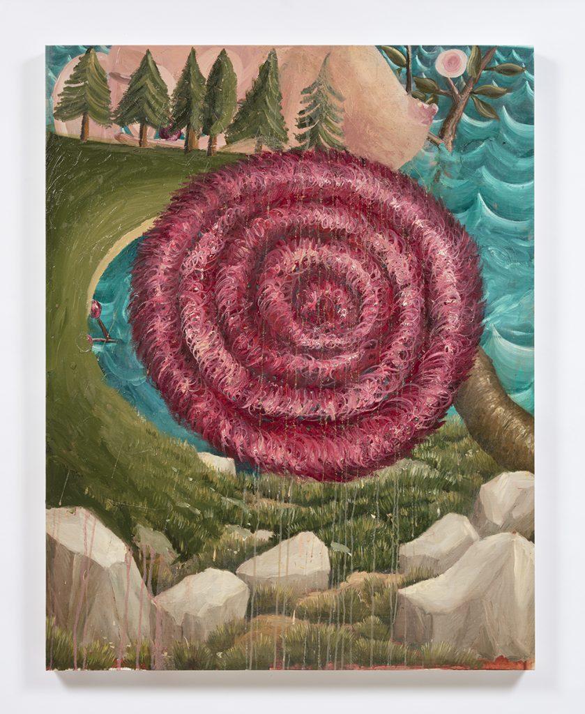 Siro Cugusi. <em>Forest IX</em>, 2019. Oil on canvas, 45 5/8 x 35 7/8 inches (116 x 91 cm)