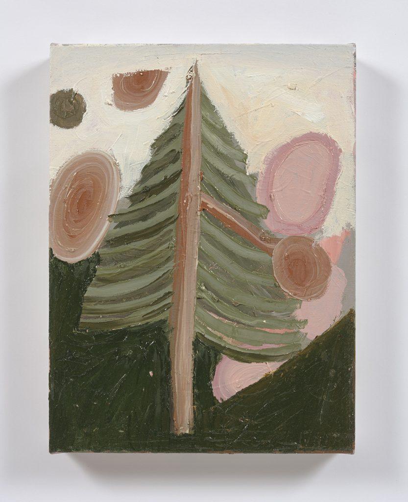 Siro Cugusi. <em>Forest X</em>, 2019. Oil on canvas, 15 3/4 x 12 inches (40 x 30.5 cm)