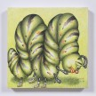 Samantha Rosenwald. <em>Peepee the Caterpillar Contemplates Mortality</em>, 2019. Colored pencil on canvas, 14 x 14 inches (35.6 x 35.6 cm) thumbnail